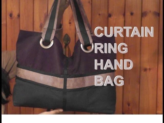 New Curtain Ring Hand Bag Tutorial. DIY Bag Vol 9