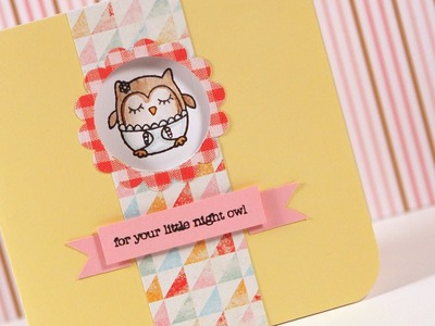 Punched Window (For Your Little Night Owl) - Make a Card Monday #159