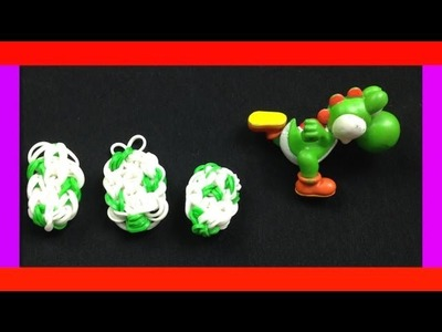 RAINBOW LOOM HOW TO MAKE EASY CHARMS YOSHI EGG or EASTER EGG DESIGN TUTORIAL