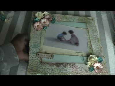 Shabby chic canvas layout including tutorial