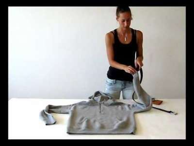 Transform Your Hoodie Into a Strap Bag