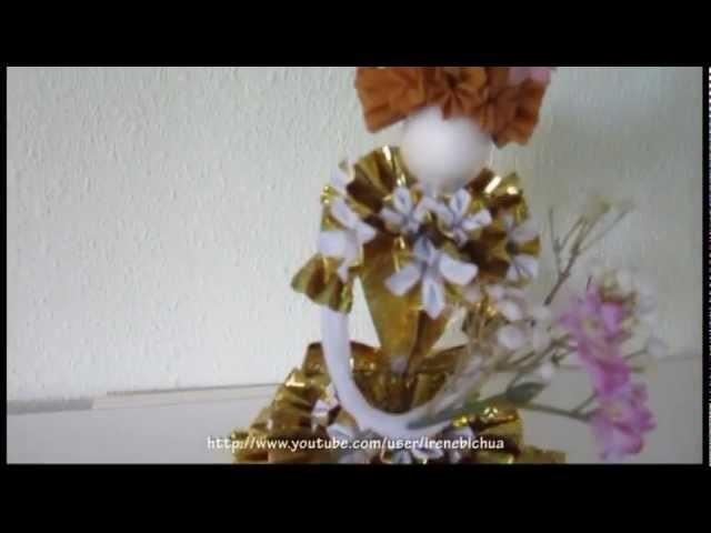 TUTORIAL -How to make 3-D Paper Doll: Miss Caroline