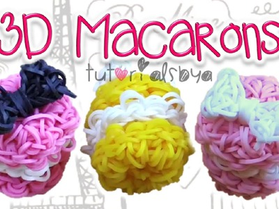 1 LOOM 3D Puffy Macaron Charm. Figurine Rainbow Loom Tutorial | How To