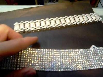 10 ROW DIAMONDS BRACELET AND CUSTOM MADE BRACELET