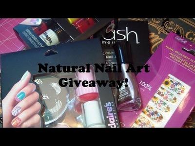 20,000+ Subscribers Natural Nail Art Giveaways!!! (CLOSED)