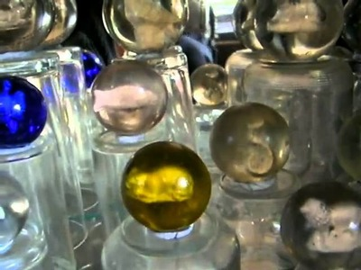 Antique handmade glass marbles collection part 4, sulphides