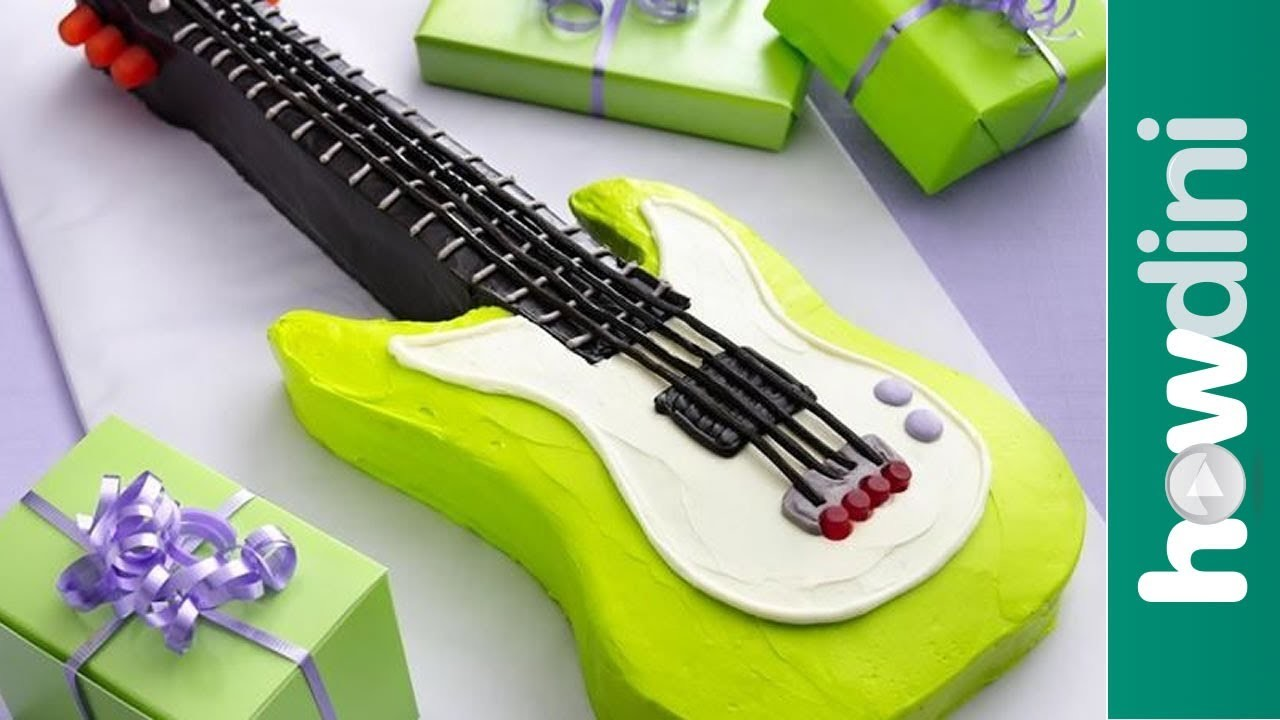 Birthday Cake Ideas: Electric Guitar Birthday Cake