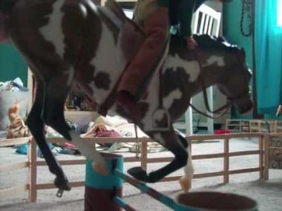 Breyer horse stop motion jumping.