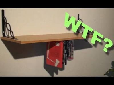 Build an UPSIDE DOWN SHELF!