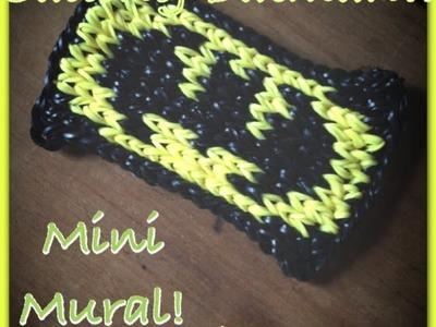 Calling Batman!! Mini Mural Rainbow Loom Beginners Tutorial