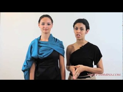 Different Ways To Wear A Shawl - Style 06