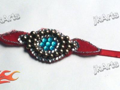 DIY Kundan Rakhi for Raksha Bandhan | How to make |  JK Arts 311