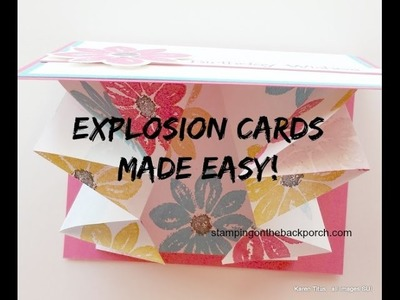 Explosion Cards Made Easy with a Story!
