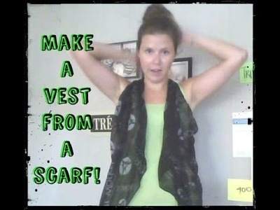 FREAKIN' ADORABLE for SUMMER! | How to Wear a Scarf like a Vest!
