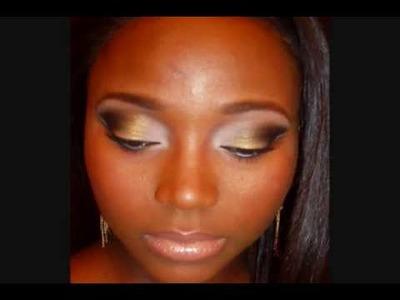 Golden Goddess Smokey Eye Tutorial