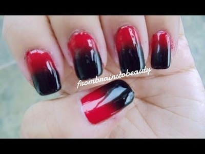 Gradient Nail Tutorial | Miami Heat - Black and Red (How To Ombre)