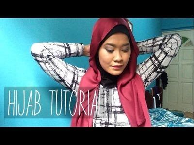 Hijab Tutorial: Satin Shawl (Aurora Matte by Ayu Apparels)   Farah Amira