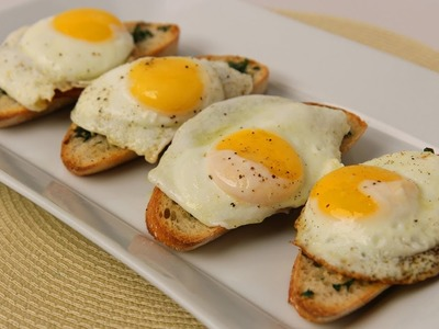 Homemade Breakfast Bruschetta Recipe - Laura Vitale - Laura in the Kitchen Episode 427