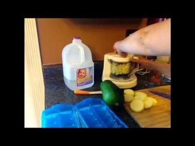 Homemade zucchini baby food in the Baby Brezza