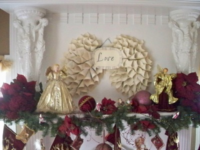 How to: Angel Wings.Wreaths from old books!