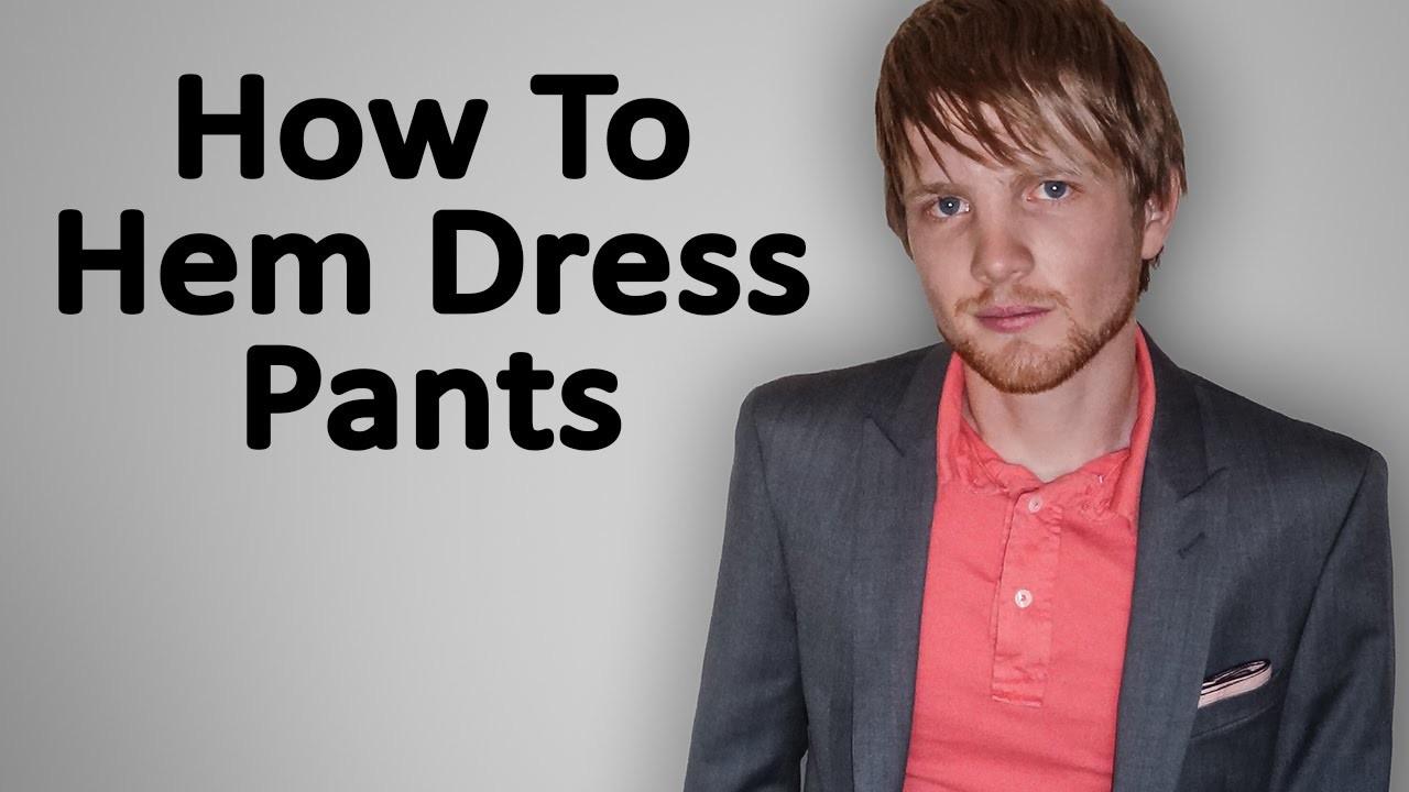 How To Hem Dress Pants (Blind Stitch)