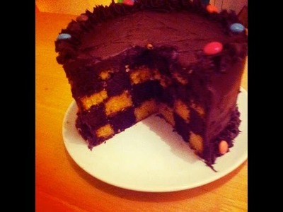 How to Make a Checkerboard Cake!