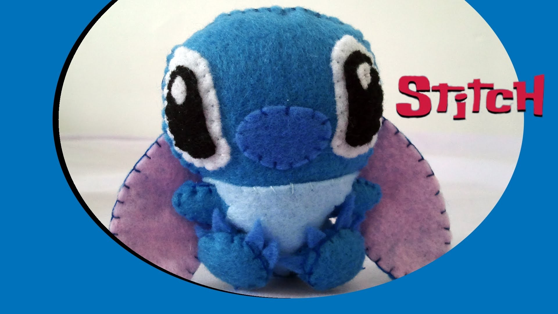 How to Make a cute Stitch plush from felt tutorial