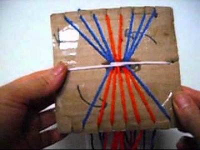 How To Make A Friendship Bracelet band with 18 Cuts Cardboard Square.
