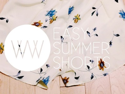How to Make a Pair of Summer Shorts