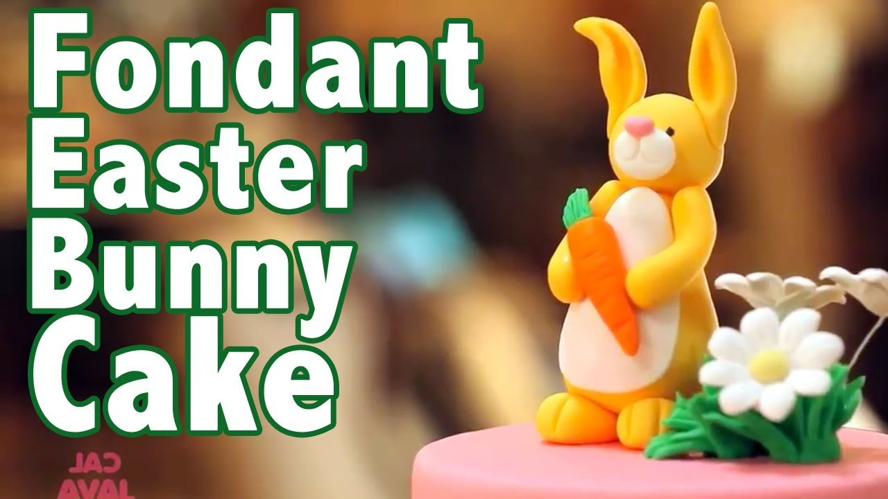 How to make a Rolled Fondant Easter Bunny Cake | Cake Tutorials