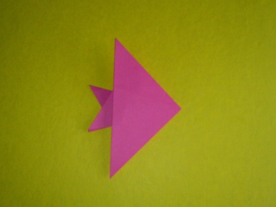 How to make a simple paper fish.