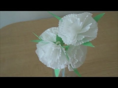 How to make Cupcake liner flowers