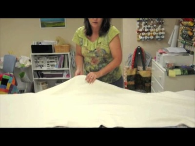 How to Sandwich a Large Quilt on a Small Table