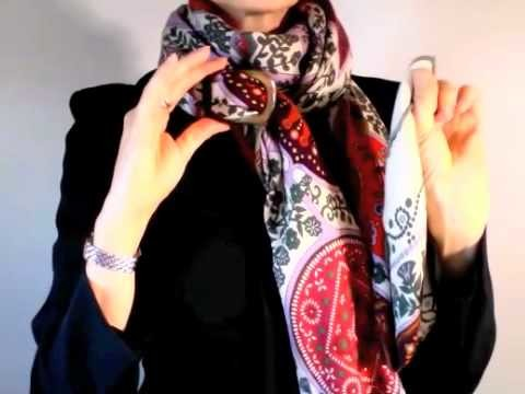 How to wear an Hermes cashmere shawl
