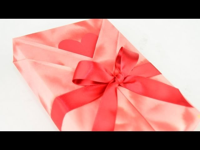 Japanese Gift Wrapping ~Kimono Style with a Heart Shaped Message Card~