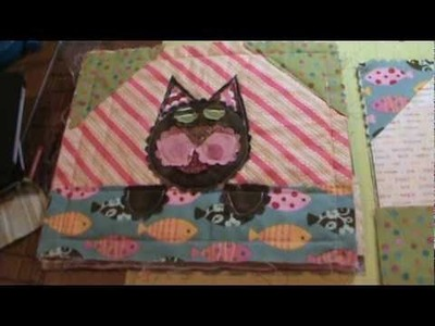Kitty Cat Big Shot Rag Quilt Square