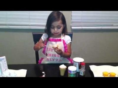 LittleMissAlyza How to Make an Ice Cream Cone Cupcake