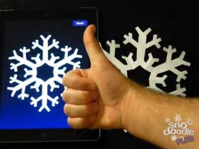 Make a perfect paper snowflake with Snodoodle Plus for iOS