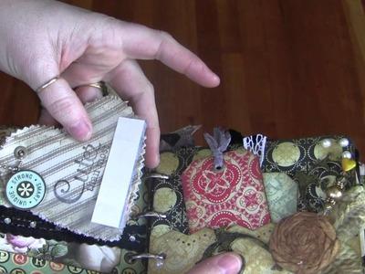 Mini Album Canvas Binder Ring Chipboard Paperbag Part 1
