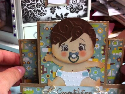 """My """"Silhouette Saturday"""" Challenge Submission!! using PeachyKeen """"The Moodies"""" Face stamps"""
