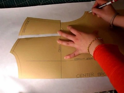 Pattern Cutting Tutorial: How To Increase.Alter Pattern For Broad.Wide Shoulders And Back