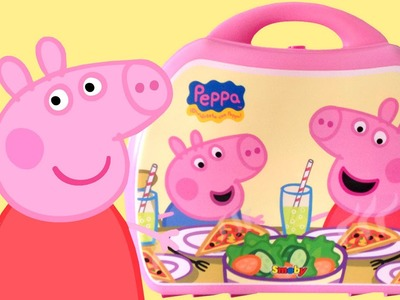 Peppa Pig Mini Pizzeria Play Doh Food Peppa Pig Chef Invites Her Friends Toy Videos