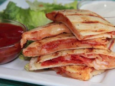 Pepperoni Pizza Quesadilla Recipe - Quick & Easy Lunch Idea!