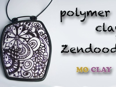 Polymer clay tutorial Zentangle Pendant - Design transfer- Arcillas polimericas