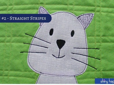 Quilt As You Go #2 - Quilting Straight Line Stripes