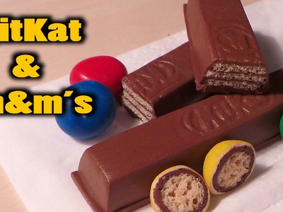 Realistic KitKat and m&m's tutorial - Polymer Clay