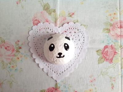 Squishy Tutorial: Homemade Panda Bun ♡