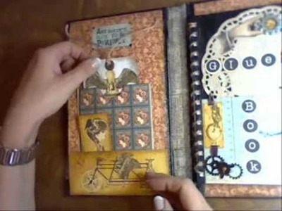 Steampunk Art Journal out of an Amazon Bookpackaging.wmv