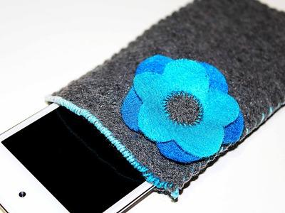 Tutorial: Simple, Felt Flower iPhone.iPod Touch Cozy