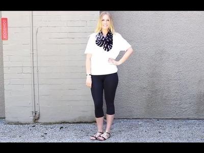 12 Ways to Wear a Scarf or Shawl   #2 The Infinity Scarf